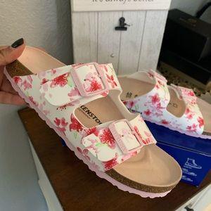 Bew Birkenstock's floral sandal